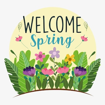 Carta di benvenuto primavera