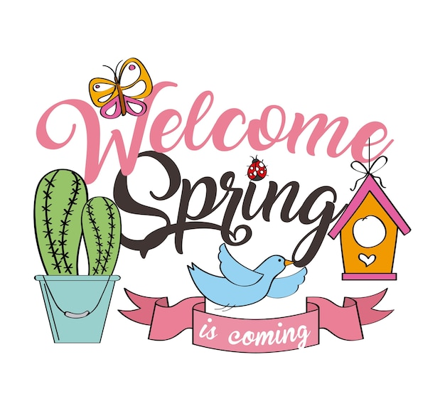 Poster di benvenuto di primavera