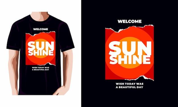 Benvenuto al design della maglietta del sole