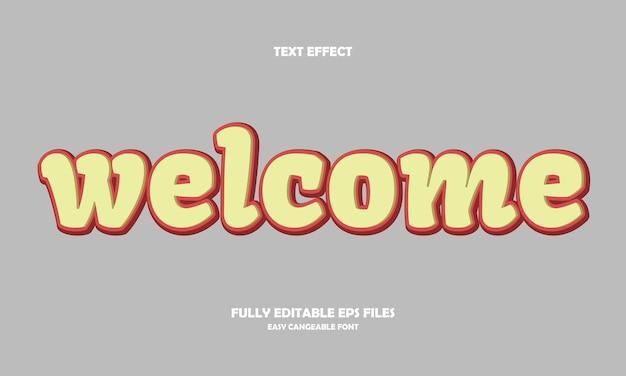 Effetto testo di benvenuto