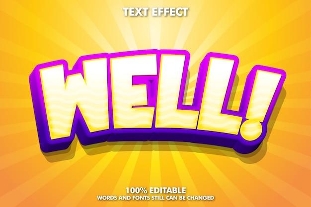 Bene effetto testo - fantastico effetto testo cartone animato