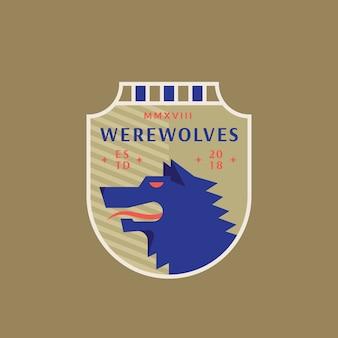 Emblema della squadra sportiva medievale dei lupi mannari.