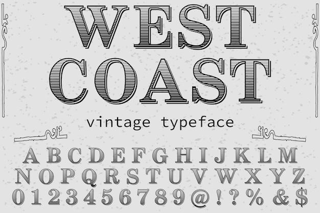 Carattere tipografico costa occidentale