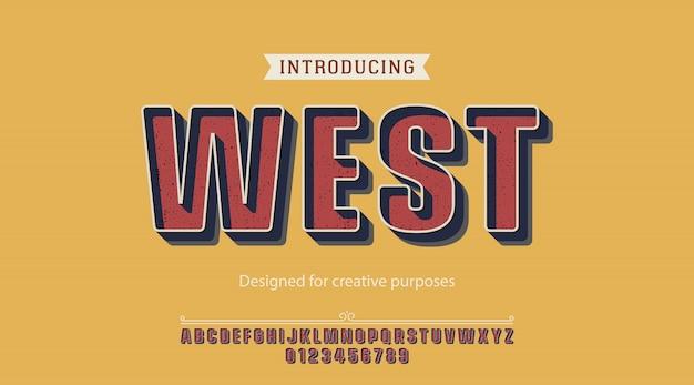 Carattere tipografico ad ovest per scopi creativi