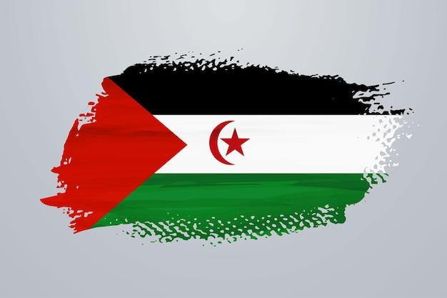Bandiera della vernice del pennello del sahara occidentale