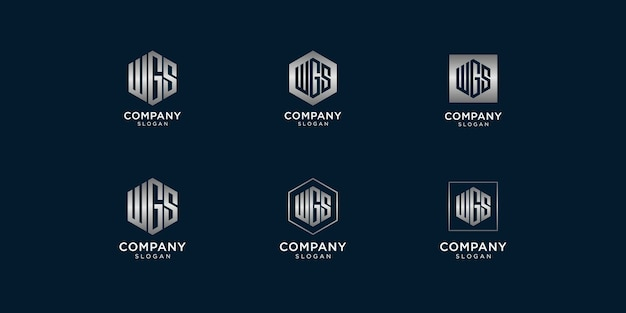 Iniziali del modello di progettazione del logo wgs
