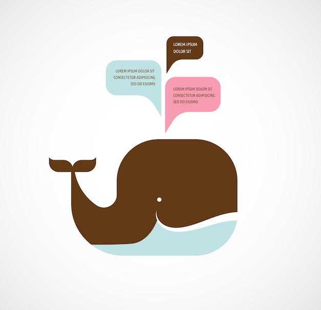 Icona della balena con fumetti