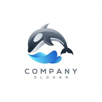 Vettore di logo di balena