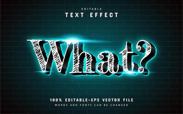 Che effetto di testo 3d