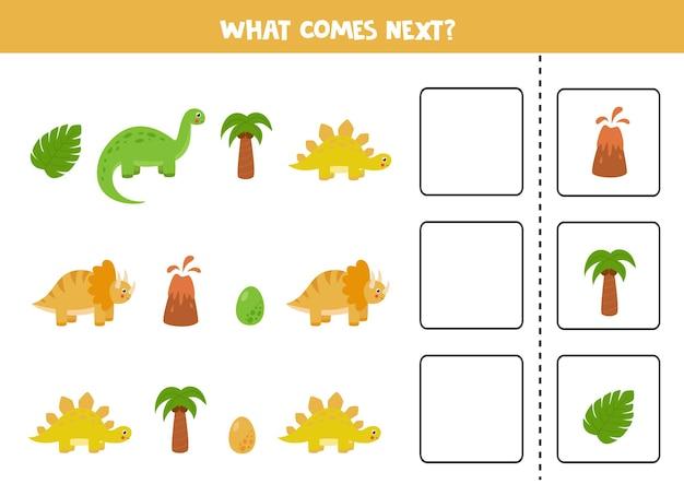 Cosa viene dopo il gioco con i dinosauri simpatici cartoni animati