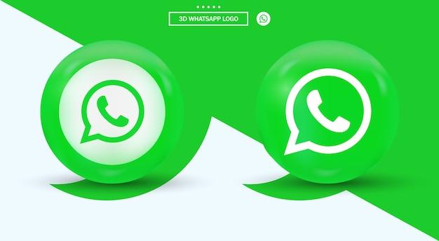 Logo whatsapp nei loghi dei social media in stile moderno