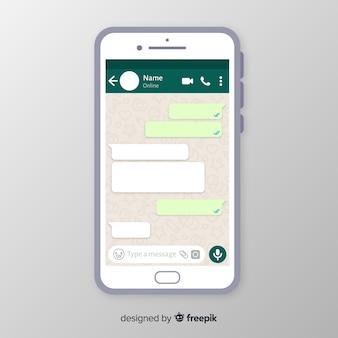 Modello di schermata di whatsapp
