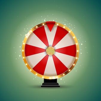 Ruota della fortuna, icona fortunata. illustrazione