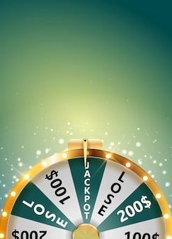 Ruota della fortuna, icona fortunata con posto per testo. illustrazione