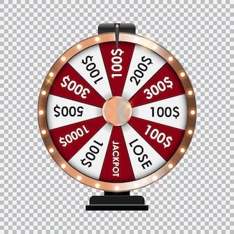 Ruota della fortuna, icona fortunata con posto per il testo. illustrazione vettoriale eps10