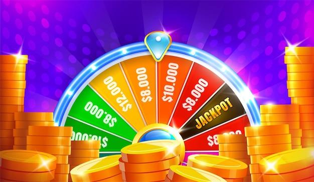 Fortuna della ruota. ruota della fortuna che gira, roulette fortunata