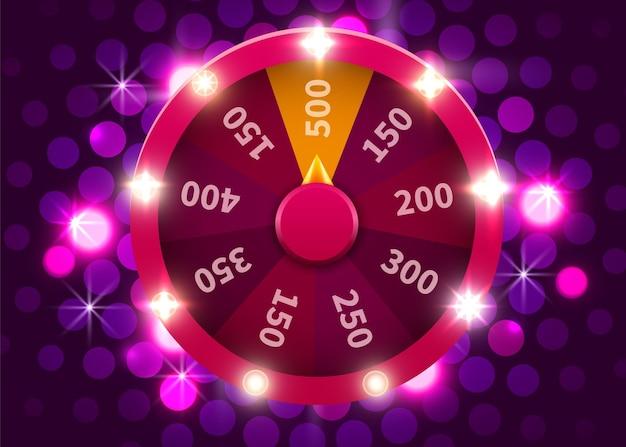 Ruota della fortuna o della fortuna. scommesse tempo libero. ruota da gioco colorata.