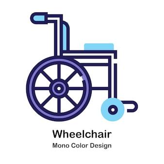 Icona mono colore sedia a rotelle