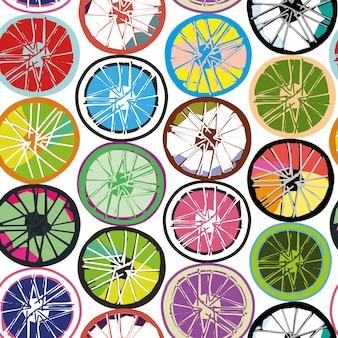 Le ruote sono simili al ciclismo, e simili a fette di lime e limone.