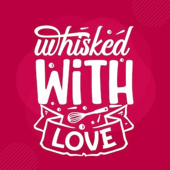 Sbattuto con lettere d'amore san valentino premium vector design