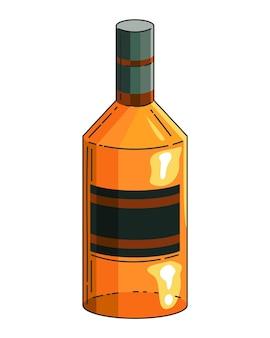 Bottiglia realistica di whisky.