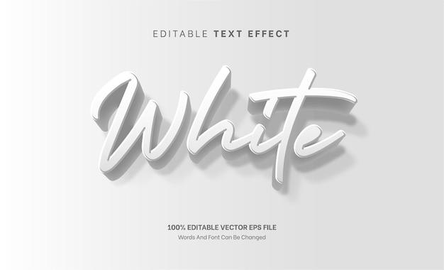 Effetto testo modificabile effetto testo in rilievo 3d bianco