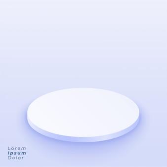 Sfondo bianco modello di presentazione podio 3d