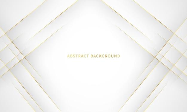 Sfondo bianco con contorno oro decorazione astratto sfondo grigio moderno concetto di banner