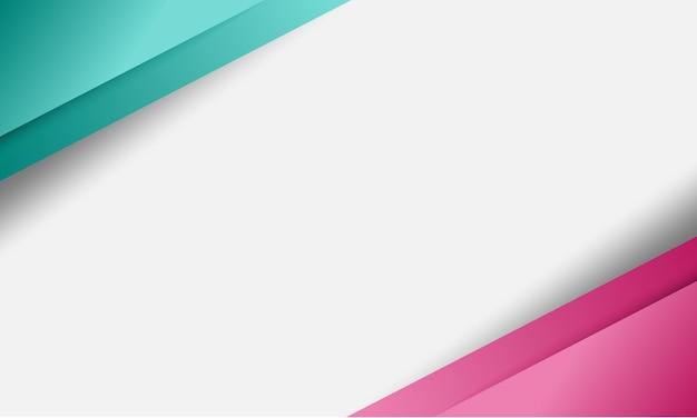 Sfondo bianco con strisce astratte verdi e rosa in stile sfumato. progetta per il tuo sito web.