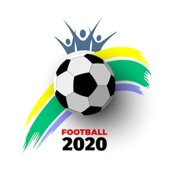 . sfondo bianco con pallone da calcio, colpo di vernice colorata e silhouette di tifosi. illustrazione.