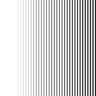 Linee o strisce verticali sfumate nere bianche senza cuciture sfondo vettoriale pattern
