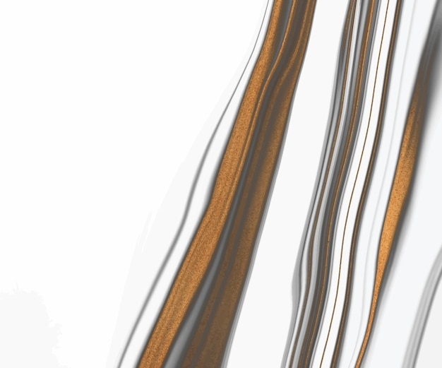Inchiostro liquido bianco e nero con texture linee glitter oro.