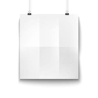 Carta bianca bianca appesa