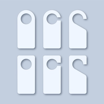 Ganci per serratura con maniglia per porta in carta bianca bianca