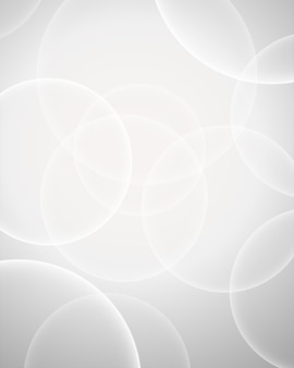 Sfondo bianco anello bokeh per usi di design