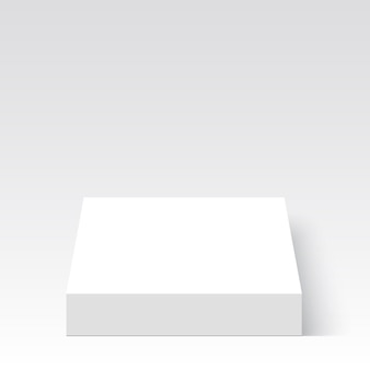 Scatola bianca. pacchetto. .