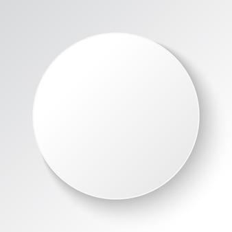 Banner cerchio bianco con spazio vuoto