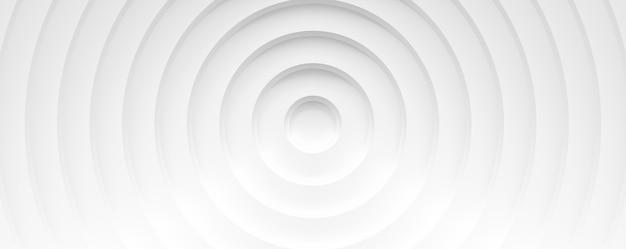Cerchi bianchi con ombre. banner astratto