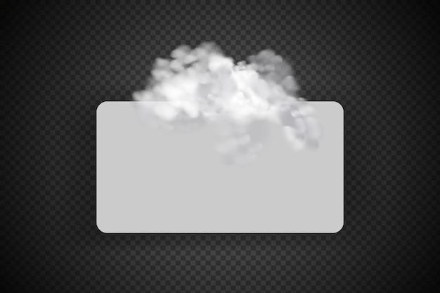 Nuvolosità bianca, nebbia o fumo su sfondo a scacchi scuro