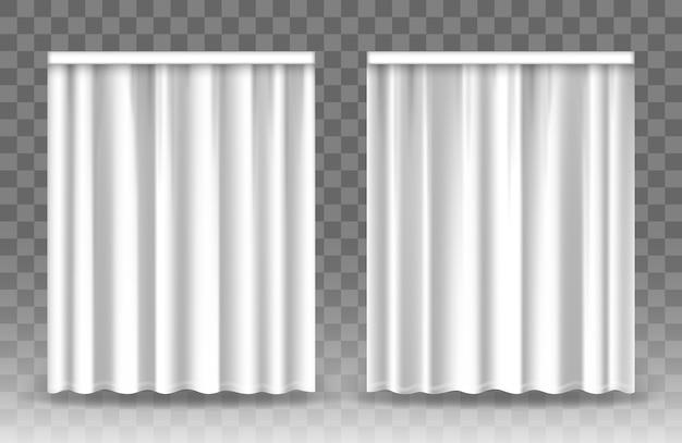 Tende bianche isolate su sfondo trasparente.