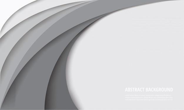 Sfondo modello curva bianca