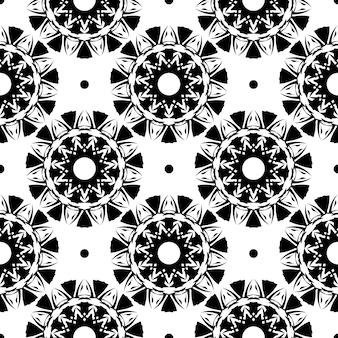 Reticolo senza giunte rugiadoso bianco con ornamenti d'epoca. sfondo in un modello di stile vintage. elemento floreale indiano. ornamento grafico per tessuto, packaging, packaging.
