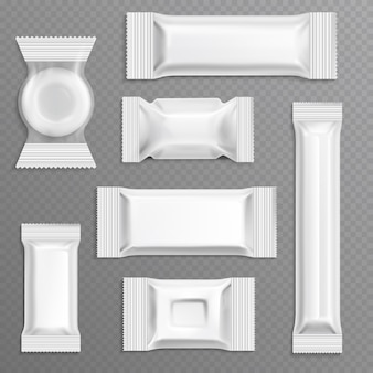 Confezionamento involucro in polietilene bianco a barretta vuota