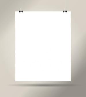Foglio di carta vuoto bianco
