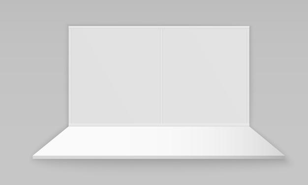 Stand espositivo promozionale 3d vuoto bianco