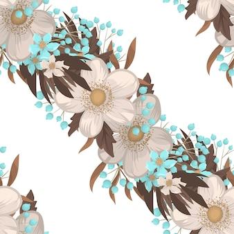 Modello senza cuciture del fondo del fiore bianco