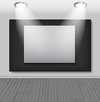 Cornici bianche nell'illustrazione di vettore della galleria d'arte.
