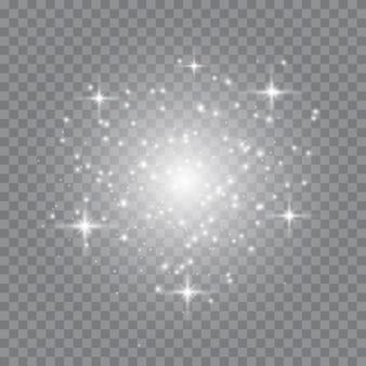 Illustrazione astratta dell'onda di scintillio bianco