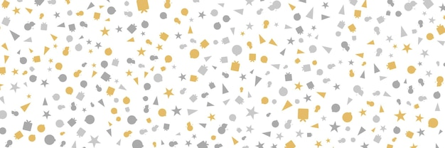 Bordo fiocco di neve senza cuciture bianco e oro design natalizio per biglietto di auguri illustrazione vettoriale merr...