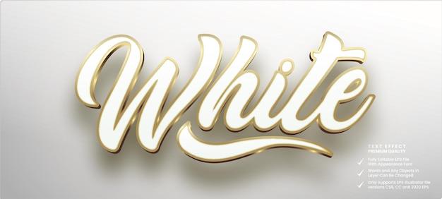 Effetto stile testo in oro bianco